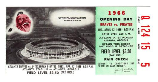 Image result for 1966 atlanta braves